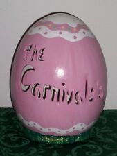 PERSONALIZED CERAMIC EASTER EGG LAMP  LIGHT UP