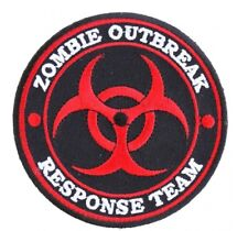 Zombie Outbreak Response Team Red Patch Embroidered Iron On Sew On