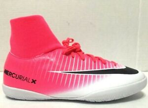 Nike Jr MercurialX Victory 6 DF IC Soccer Shoes Pink Youth 903599-601 Size 4M