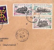 BT135 1971 Mali *Bamako* Registered RAILWAY ISSUES Commercial Air Mail Cover