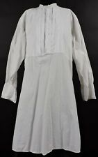 Civil War Era Men'S White Linen Shirt W Pleated Bib Front