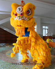 Hot Lion mascot Dance Costume wool Southern Lion Chinese Folk art For two adults