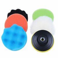 6Pcs 3inch Sponge Polishing Waxing Buffing Pads Kit for Car Polisher E5B3