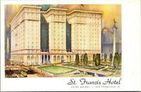 Vtg 1910's St Francis Hotel, Union Square San Francisco California CA Postcard b