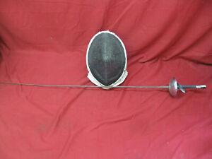 Vintage Fencing Mask and Fencing Foil