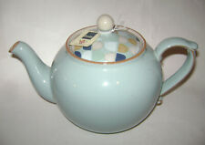 Denby Pavilion Blue Teapot Coffee Pot With Lid / Cover Pottery Stoneware