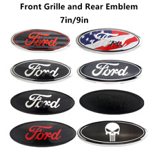 New OEM Front Grille/Rear Trunk Oval Emblem 7/9 inch Fits Ford F150 F250 F350