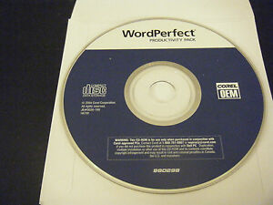 Corel WordPerfect Productivity Pack (PC, 2004) - Replacement Disc Only!!!