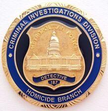 Metropolitan Police D.C. Homicide Branch Challenge Coin