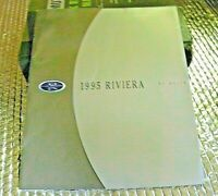 1995 Dealership Factory Brochure Buick Riviera Catalog with paint chip samples