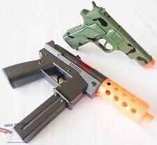 2x Toy Guns Military KG-9 J Toy Machine Pistol Camo 9MM Cap Guns Set