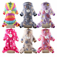 Dog Soft Fleece Jumpsuit Winter Dog Clothes Small Puppy Coat Pet Outfits Hoodie