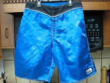 Quiksilver shiny nylon surf board shorts 33 waist retro vintage 1990's