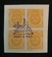 stamp Sweden Sverige Posti Post Ship skip skib Stempel Typ 3. On paper