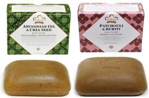 Nubian Heritage (Patchouli & Buriti + Abyssinian Oil) & Chia -Soap-(2-Set)