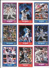 Don Mattingly plus 8 more Yankees baseball card lot.