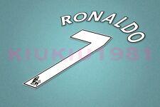 Manchester United Ronaldo #7 PREMIER LEAGUE 07-13 White Name/Number Set