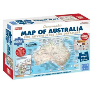 Blue Opal Map Of Australia For Adventures And Dreamers Puzzle 1000Pcs