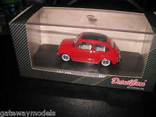 1/43 DETAIL CARS PLATINUM FIAT 600D 1965 SOFT TOP RED   #312 GREAT LOOKING CAR
