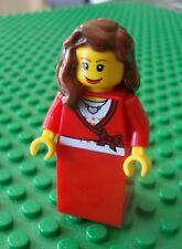 Lego Christmas Lady Minifig Female Xmas City Town 10216
