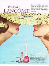 PUBLICITE ADVERTISING 014   1963   LANCOME   cosmétiques vernis à ongles