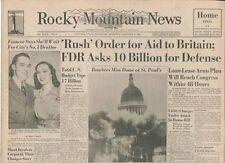 Rocky Mountain News, Home Final Edition, Jan 9, 1941
