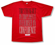 Drake Confidence Red T Shirt Headlines Lyrics New Rapper Official