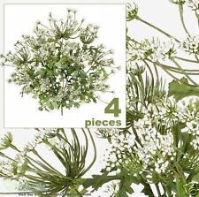 """FOUR 20"""" Queen Ann Artificial Flowers Silk Plants 172WH"""