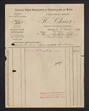 """NEVERS (58) OUTILS pour SABOTIERS & pour MACHINES à BOIS """"H. CHUET"""" en 1919"""