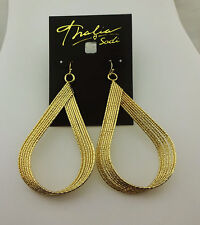 THALIA SODI Gold toneTextured Twist Teardrop Earrings Msrp $16.50 *NEW WITH TAG*