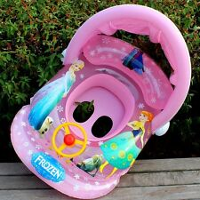 Frozen Inflatable Baby Kids Float Seat Boat Tube Ring Sun shade Swimming Pool