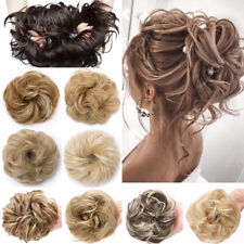 Thick Messy Bun Hair Piece Scrunchie Updo Wrap Hair Extensions Real as human US