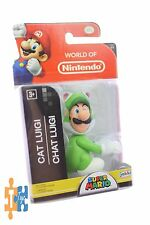 "Super Mario CAT LUIGI 2 1/2"" World of Nintendo 2017 Action Figure ""NEW"""