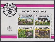 F-Ex20300 Tanzania Mnh 1982 Fao World Foot Day Mammals Cao Bull Mouse.