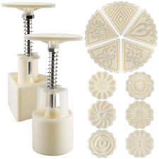 Mooncake Mold Press 11 Stamps Flower 2 Sets Cookie Press Decoration Tools Baking