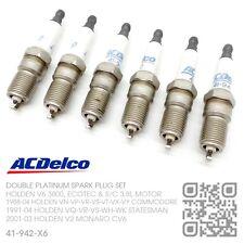 ACDELCO PLATINUM SPARK PLUGS V6 ECOTEC 3.8L MOTOR [HOLDEN VS-VT-VX-VY COMMODORE]