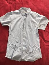Mens Short Sleeve Short Blue Armpit Stained Small Gay Interest