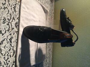 "Black Mens "" Tassle Loafer "" by Russel & Bromley Size 8"