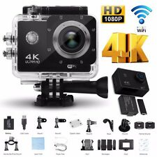 4K 2'' Ultra HD 1080P Sports WiFi Cam Action Camera DV Video Recorder Black- UK