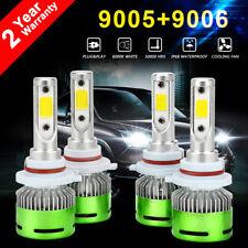 9005+9006 Combo 240W 24000LM CREE LED Headlight Kit High or Low Beam Light Bulbs