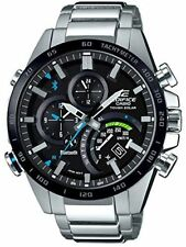 Casio Men Edifice Black Label BLUETOOTH Tough Solar SS 3D Watch EQB501XDB-1A