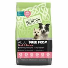 Burns Free From Duck and Potato 2KG 6KG 12KG. Puppy Adult Kibble Biscuits