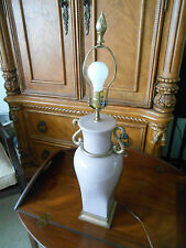 Vintage 1982 CHAPMAN Porcelain & Brass Swan Table Lamp