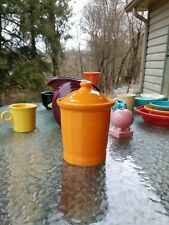 fiestaware FIESTA WARE SMALL CANISTER LID tangerine orange NEW
