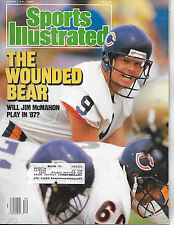 SPORTS ILLUSTRATED - JIM MCMAHON THE WOUNDED BEAR  FROM AUGUST  24, 1987