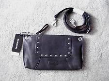 NWT!! Ellington Sally Leather Handbag Clutch Gunmetal Free Shipping