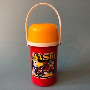 Rare Vintage Kenner MASK Action Figures Red Yellow Flask Water Bottle 1980s