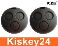 2x 3Tasten Auto Schlüssel Fernbedienungen Gehäuse für Smart ForTwo-MC01 450