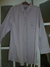 VGC Pink and Grey striped long sleeve shirt size 18-20