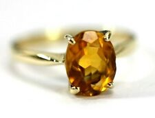 Beautiful 14K YELLOW GOLD & CITRINE Womens Ring: Size 6 - 2.3 Grams
